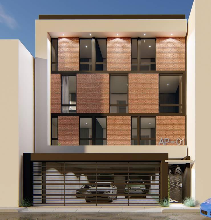 Casas multifamiliares de estilo  por Taller NR Arquitectura,