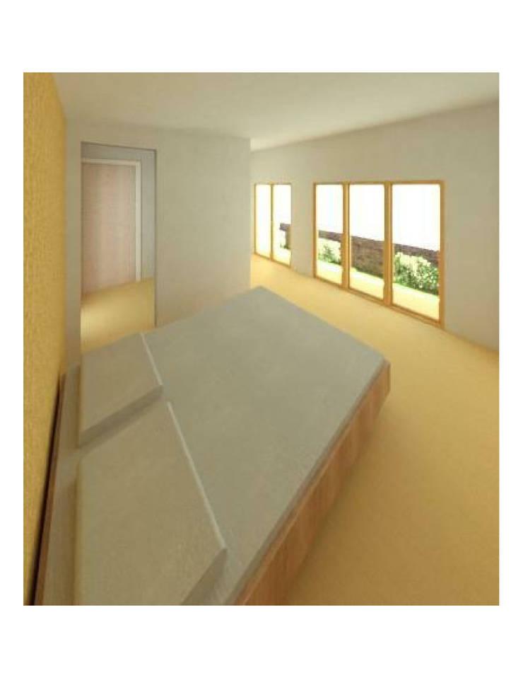 Dormitorio principal: Dormitorios de estilo  por Constructora Alonso Spa