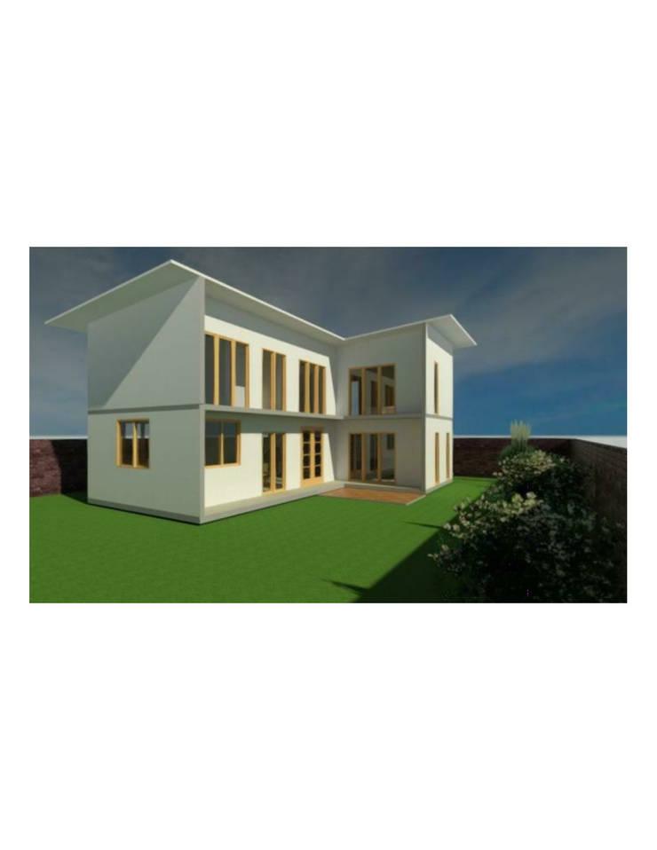 Fachada: Casas de estilo  por Constructora Alonso Spa