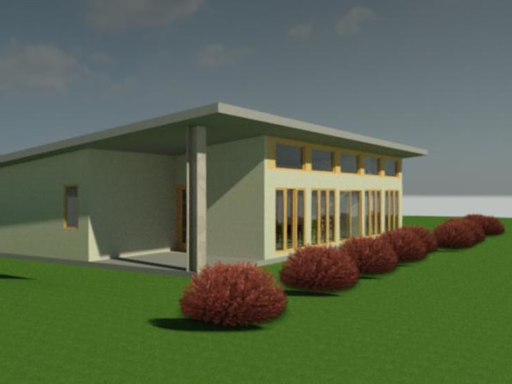 Modelos preliminar 3D: Casas de estilo  por Constructora Alonso Spa