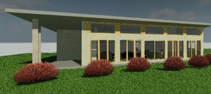 Render fachada: Casas de estilo  por Constructora Alonso Spa