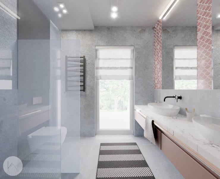 Ванные комнаты в . Автор – WOJTYCZKA Pracownia Projektowa, Модерн Бетон