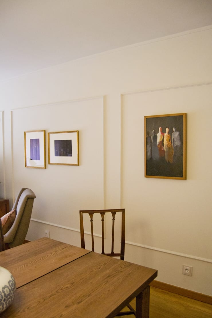 Comedores de estilo  por Tangerinas e Pêssegos - Design de Interiores & Decoração no Porto, Ecléctico