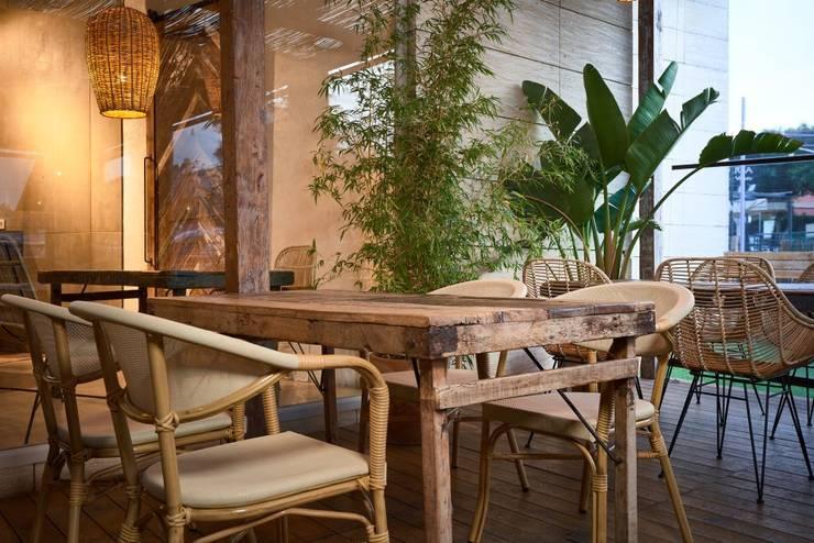 ร้านอาหาร โดย MisterWils - Importadores de Mobiliario y departamento de Proyectos., ทรอปิคอล