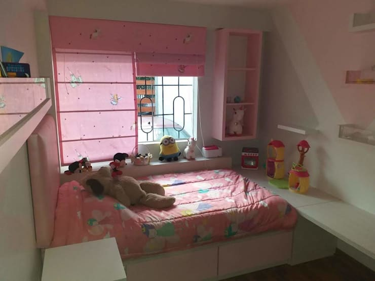 Dormitorio: Cuartos para niñas de estilo  por Inspira