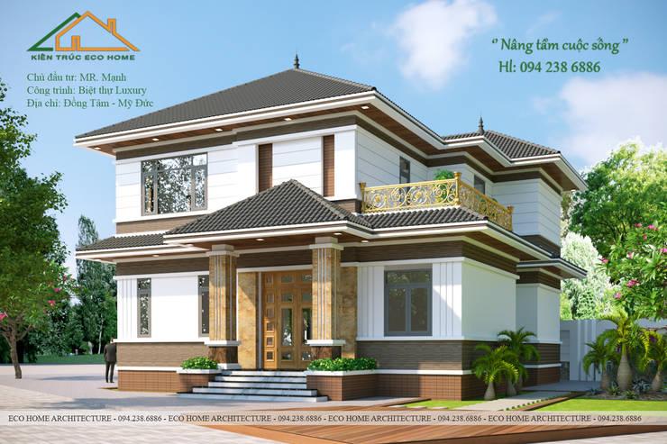 Biệt thự vườn đẳng cấp đáp ứng được mọi nhu cầu của gia chủ:   by Công ty CP kiến trúc và xây dựng Eco Home