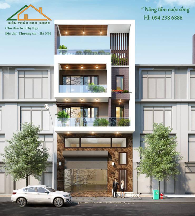 Mẫu nhà mặt phố phù hợp cho các hộ kinh doanh:   by Công ty CP kiến trúc và xây dựng Eco Home