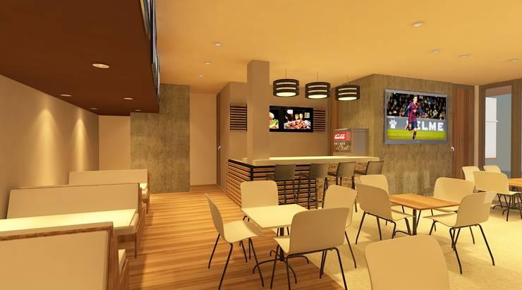 Diseño interior comercial: Espacios comerciales de estilo  por CAMALEON DISEÑOS