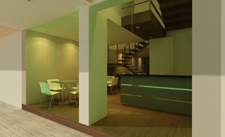 Diseño de lobby: Hoteles de estilo  por CAMALEON DISEÑOS, Minimalista