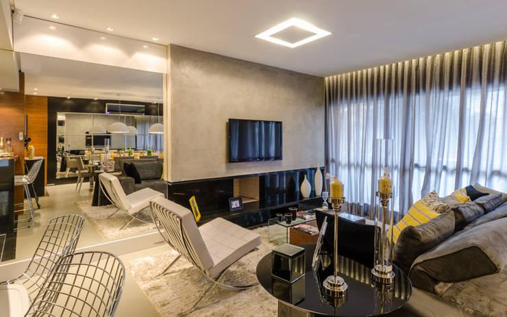 Гостиная в . Автор – BG arquitetura | Projetos Comerciais, Модерн