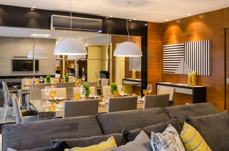 Столовые комнаты в . Автор – BG arquitetura | Projetos Comerciais, Модерн