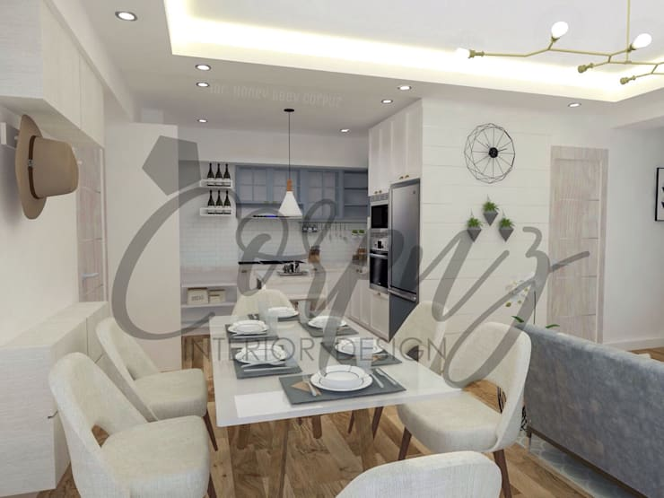 Modern Chic: Aesthetically functional:  Dining room by Corpuz interior design