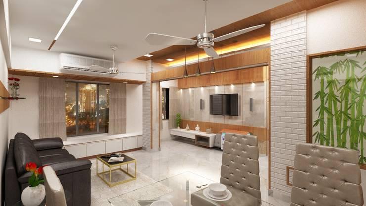 Living room designs:  Living room by Square 4 Design & Build,Modern
