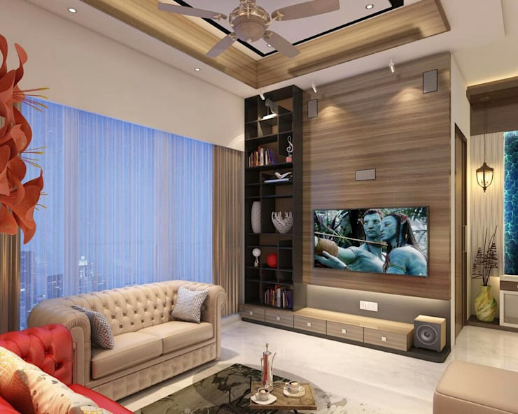 Living room by Square 4 Design & Build, Modern