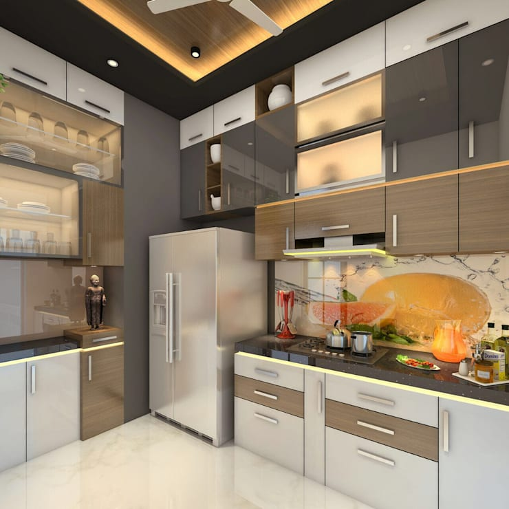 Kitchen by Square 4 Design & Build, Modern
