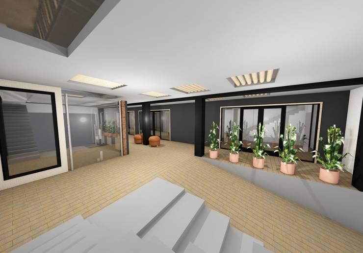visualización 3D  PROYECTO : Centros comerciales de estilo  por s+s sady silva Arquitectura, Moderno Aglomerado