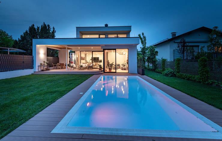 Pool und Garten modern Moderner Garten von AL ARCHITEKT - in Wien Modern