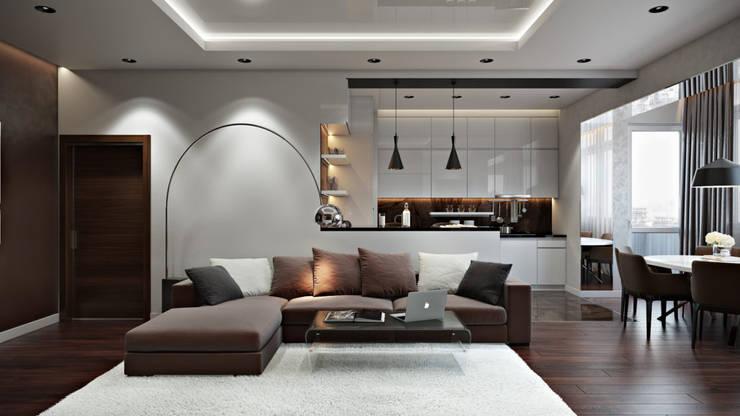 Skandinavische Wohnzimmer von 'INTSTYLE' Skandinavisch Beton