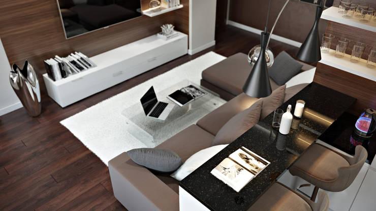 Skandinavische Wohnzimmer von 'INTSTYLE' Skandinavisch Holz Holznachbildung