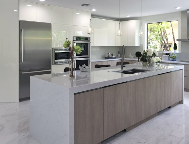 WEST BOCA RATON Cocinas de estilo moderno de Milestone Moderno