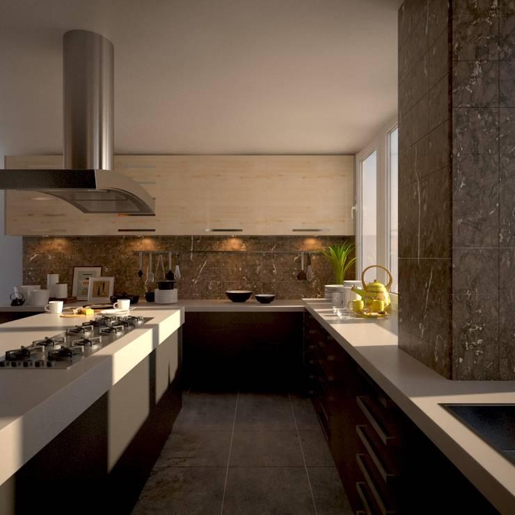 Cocina Moderna: Cocina de estilo  por Spacio D'talles,