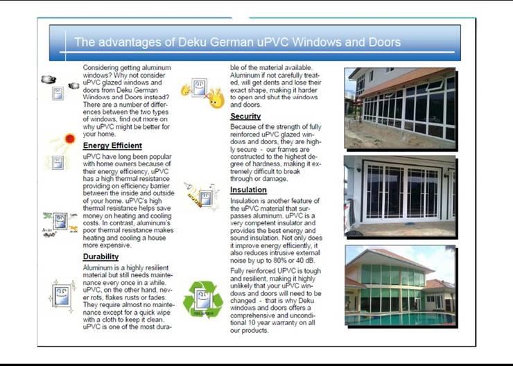 Windows & doors  by DeKu German Windows Co.,ltd