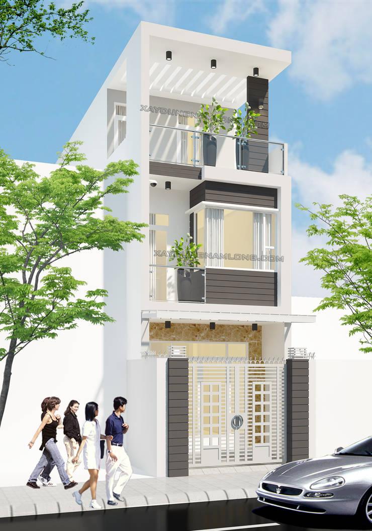 Mẫu thiết kế nhà đẹp hiện đại, trẻ trung:   by Thiết kế nhà đẹp ở Hồ Chí Minh