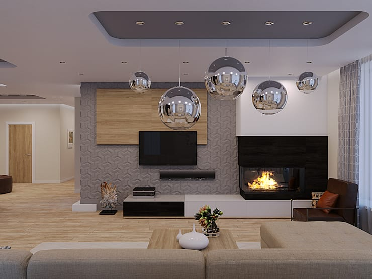 Living room by Wide Design Group,