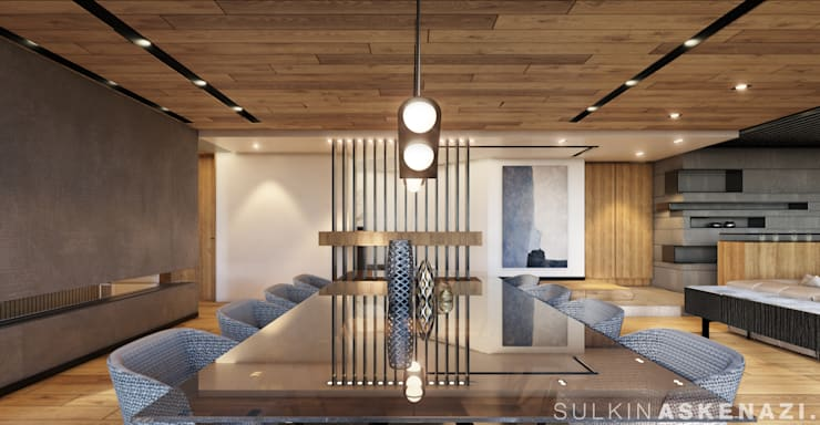 Dining room by Sulkin Askenazi, Modern