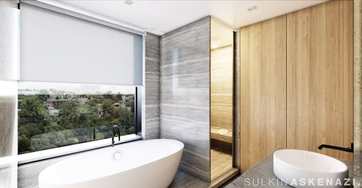 Bathroom by Sulkin Askenazi, Modern