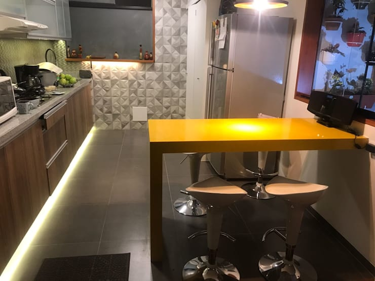 Cocina integrada: Cocinas equipadas de estilo  por Actio arquitectos,