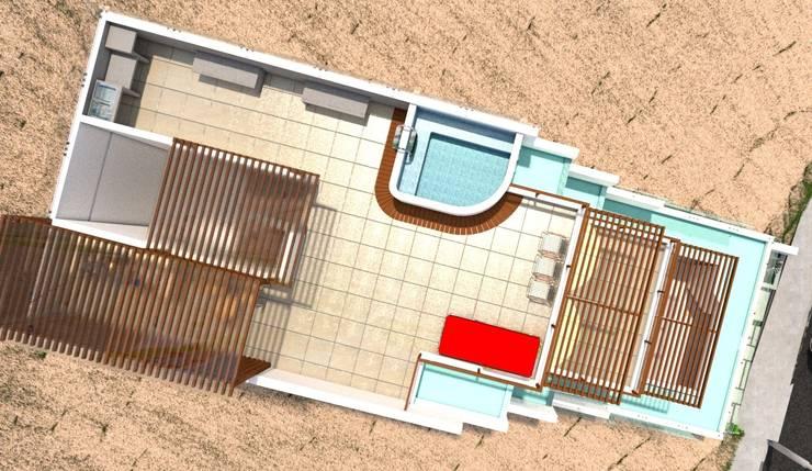 Casa de Playa - BUJAMA: Piscinas de estilo  por Corporación Siprisma S.A.C,