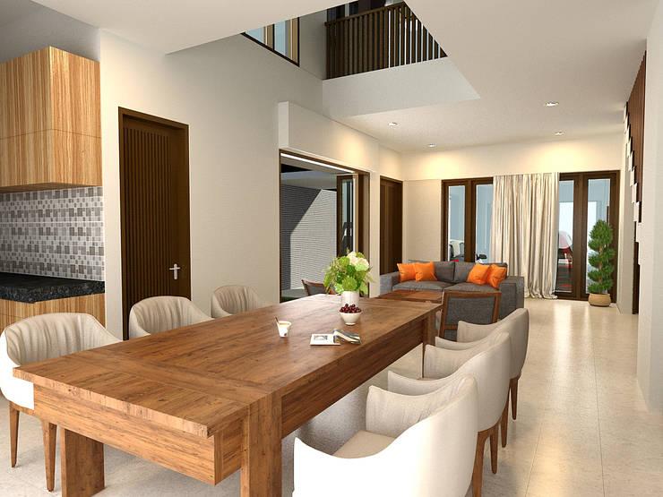 ruang makan lega:  Ruang Makan by KuntArch Studio