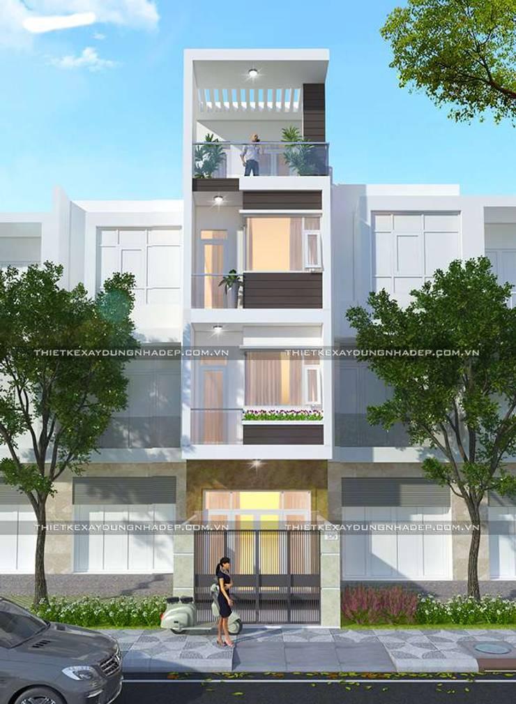 Thiết kế nhà diện tích 4x15m:   by Công ty cổ phần tư vấn kiến trúc xây dựng Nam Long