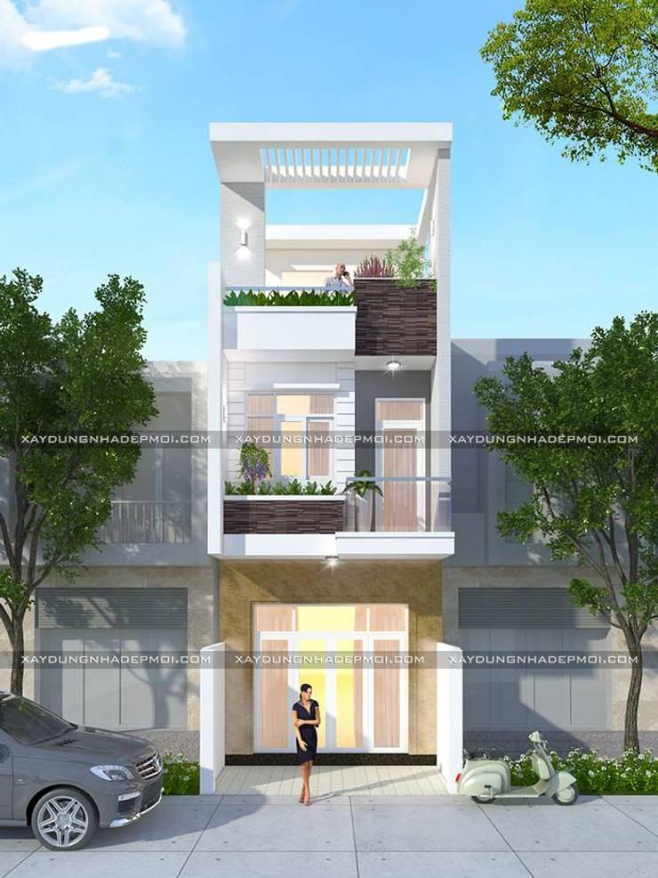 Thiết kế nhà đẹp ở huyện Củ Chi:   by Công ty cổ phần tư vấn kiến trúc xây dựng Nam Long