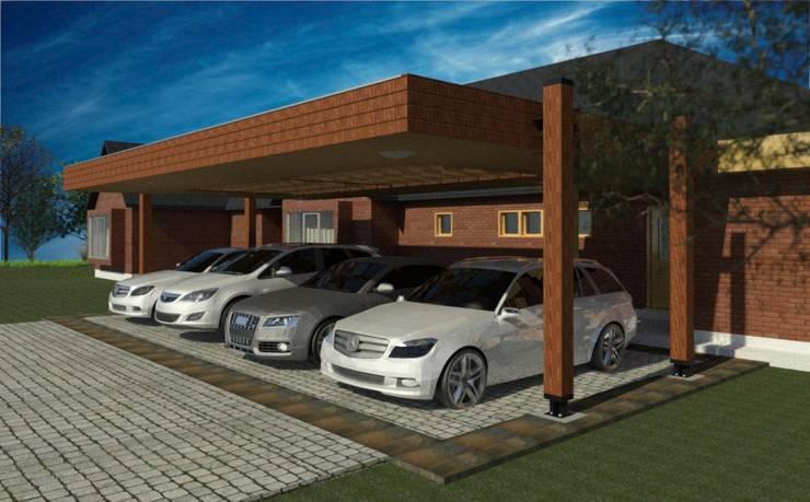 Diseño y Construcción de Cobertizo en Talca – Luis Matus: Techos planos de estilo  por eco cero - Arquitectura sustentable en Talca