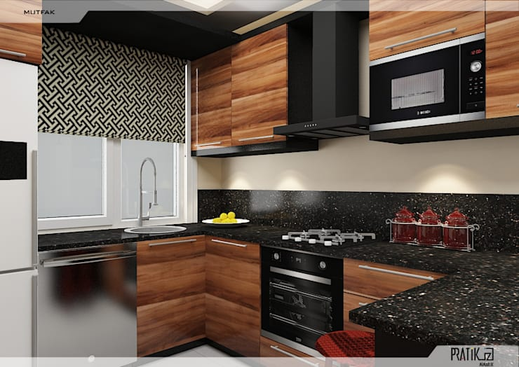 Petites cuisines de style  par PRATIKIZ MIMARLIK/ ARCHITECTURE