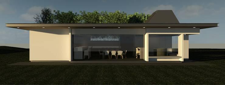 FACHADA: Comedores de estilo  por MRH Arquitectos