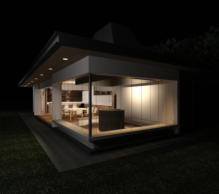PARRILLA HABITABLE: Terrazas  de estilo  por MRH Arquitectos