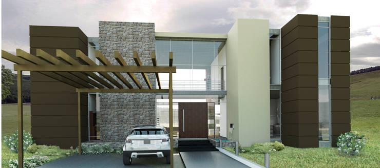 VIVIENDA CAMPESTRE: Conjunto residencial de estilo  por IAA LTDA
