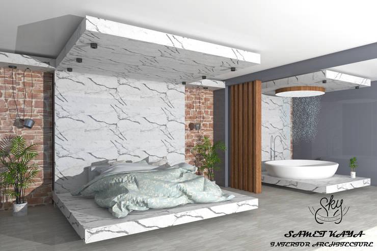 Small bedroom by SKY İç Mimarlık & Mimarlık Tasarım Stüdyosu