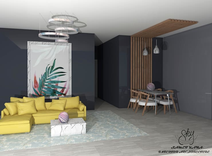 Living room by SKY İç Mimarlık & Mimarlık Tasarım Stüdyosu