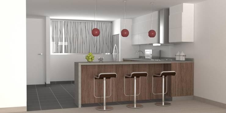 diseños cocinas:  de estilo  por hipnos construcciones