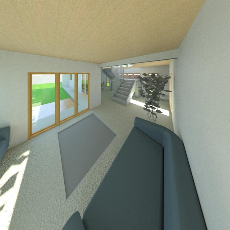 Sala de estar: Livings de estilo  por Constructora Alonso Spa