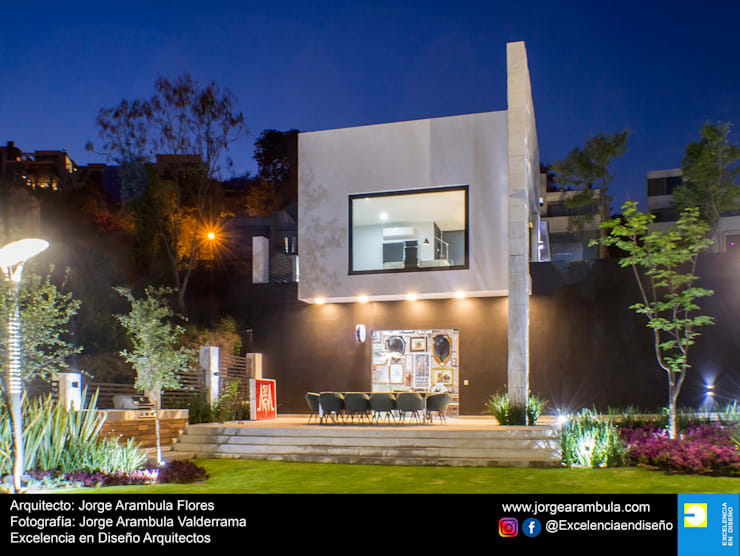Casa La Nogalera: Casas unifamiliares de estilo  por Excelencia en Diseño,
