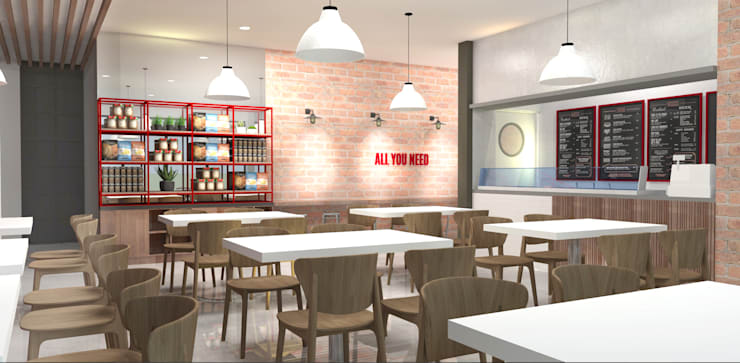 Filipino Modern Restaurant:  Commercial Spaces by CIANO DESIGN CONCEPTS