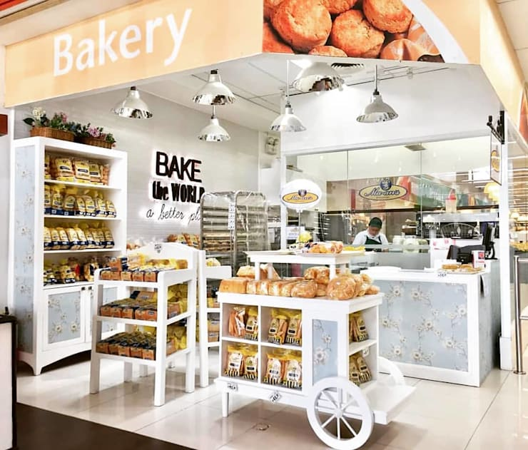 Shabby Chic Bakery in Davao:  Commercial Spaces by CIANO DESIGN CONCEPTS