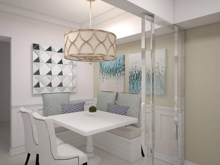 1 Bedroom Condo in Manila:  Dining room by CIANO DESIGN CONCEPTS