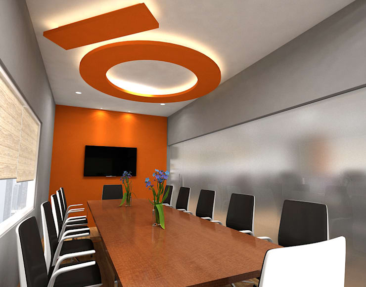 Conference Room:  Study/office by In Design Decor
