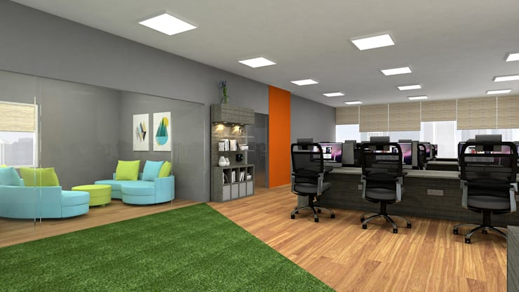 Commercial:  Study/office by In Design Decor